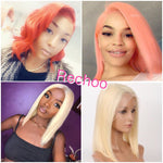 *Hot*  Rechoo Fairy 613 Blonde Bob Lace Frontal  Human Hair Wigs