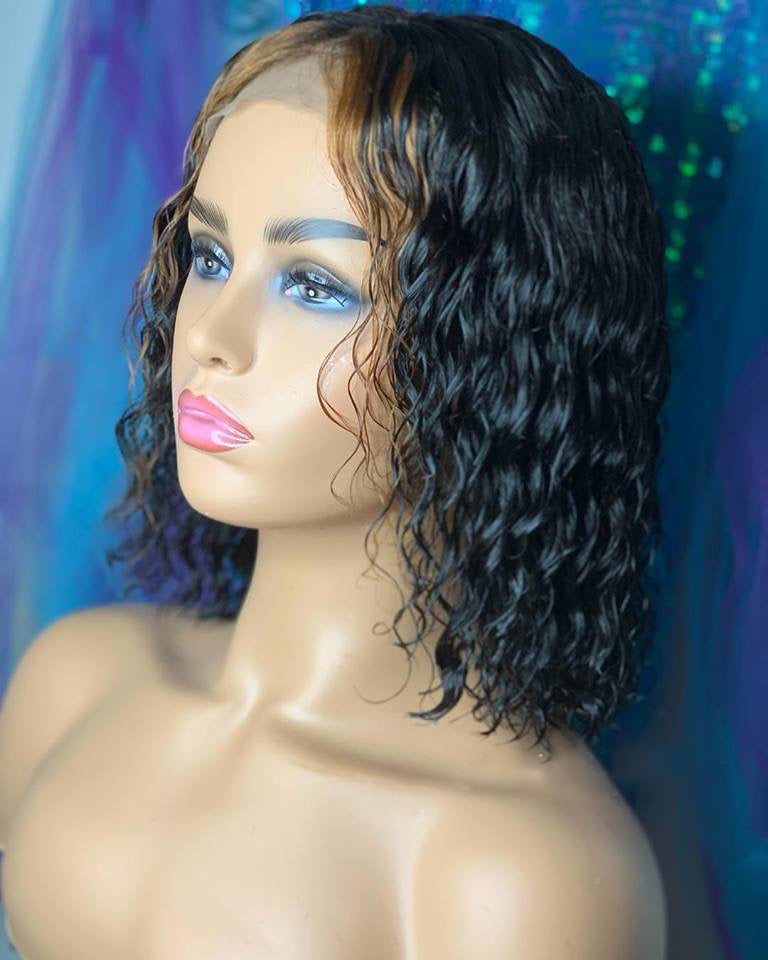 【NEW IN】Blonde Highlight Water Wavy Custom Lace Front Wigs