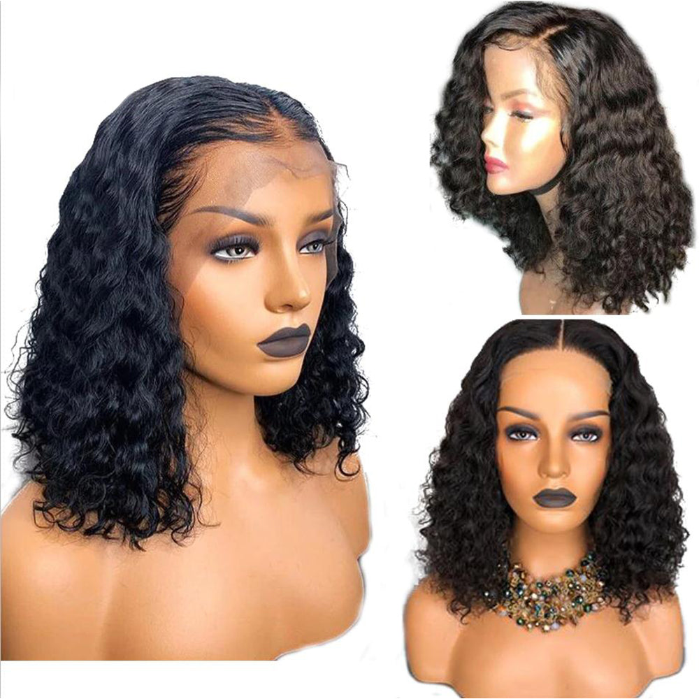 【Top Seller】Italian Curly Pre-Plucked 250% Brazilian Virgin Hair Deep Part 13x6 Lace Front Wigs