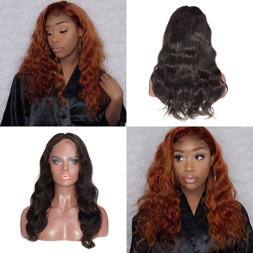 Rechoo 13*6 Deep Parting Body Wavy Brazilian Lace Front Wig