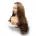 Rechoo Brown Loose Wavy Hand-tied Synthetic Lace Front Wig