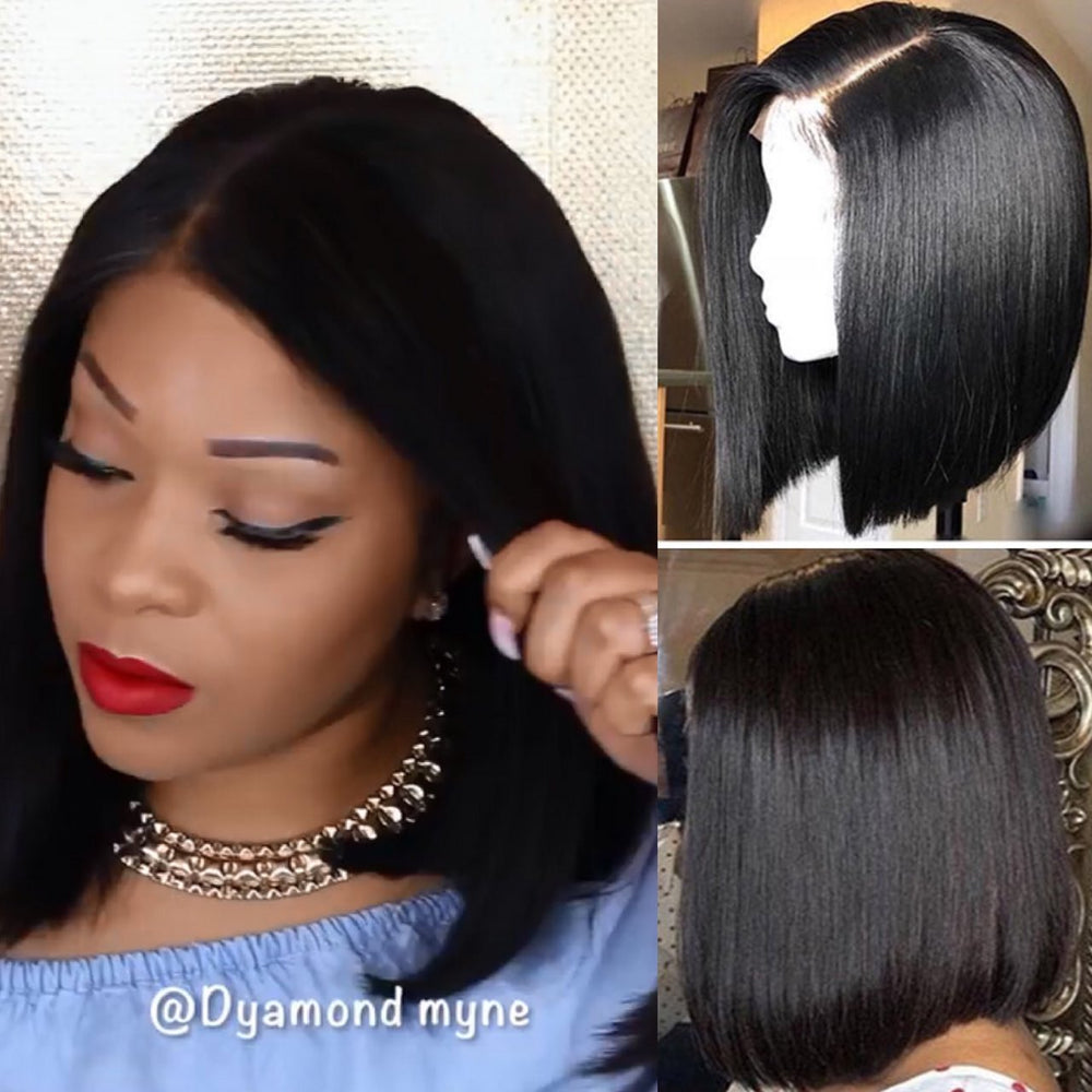*Hot Sale* Rechoo Fairy Bob Lace Frontal  Human Hair Wigs