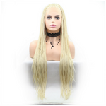 Rechoo Blonde Braiding Synthetic Lace Front Wig