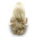 Rechoo Blonde Body Wavy Hand-tied Synthetic Lace Front Wig
