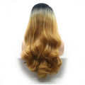 Rechoo Honey Blonde Ombre Body Wavy Synthetic Lace Front Wig