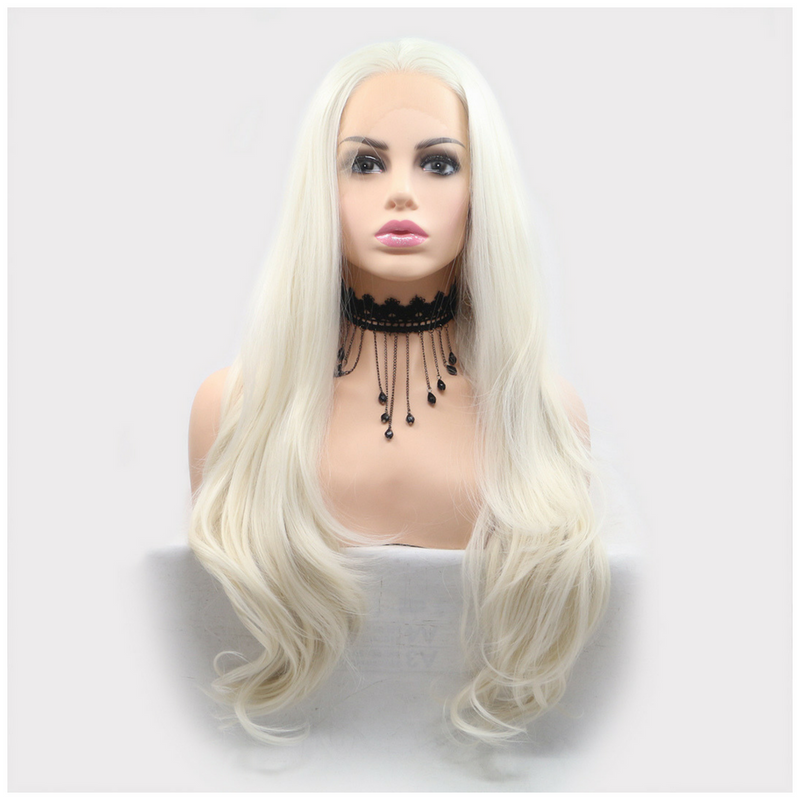 Rechoo Light Blonde Loose Wave Synthetic Lace Front Wig