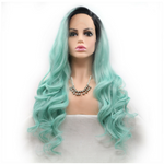Rechoo Pepper Mint Body Wavy Synthetic Lace Front Wig
