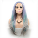 Rechoo Rainbow Long Straight Synthetic Lace Front Wig
