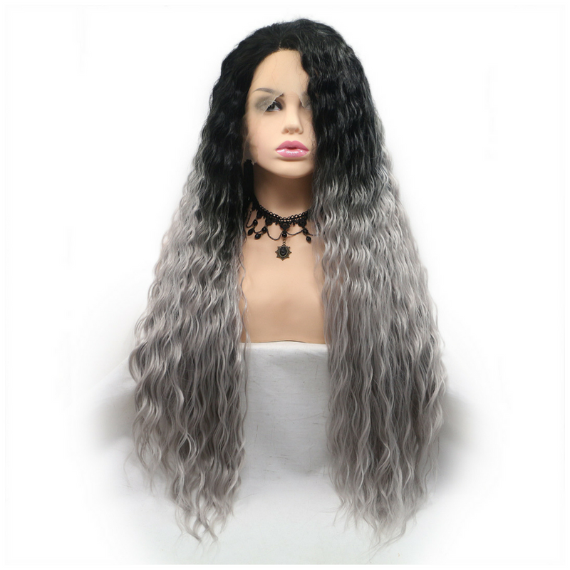 Rechoo Ombre Lose Wavy Synthetic Lace Front Wigs
