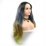 Rechoo Natural Wave Black Ombre Smoky Blue/Brown/Green Synthetic