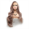 Smoke Pink Loose Wave Synthetic Lace Front Wig