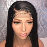 Pre-Plucked 250% Density Human Hair Straight Lace Front Wigs