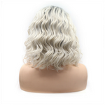Rechoo Ombre Blonde Bob Bouncy Curly Synthetic Lace Front Wigs