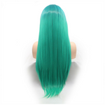 Rechoo Emerald Ombre Silky Straight Synthetic Lace Front Wig