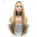 Rechoo Blonde Ombre Silky Straight Synthetic Lace Front Wig
