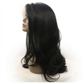 Rechoo Black Wavy Hand-tied Synthetic Lace Front Wig