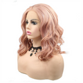 Rechoo Bob Rose Gold Synthetic Wavy Lace Front Wigs
