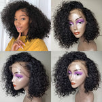 *Hot* Rechoo Pre-Plucked Brazilian Virgin Hair Lace Front Curly Bob Wigs
