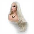 White Loose Wave Long Synthetic Lace Front Wig