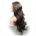 Rechoo Dark Brown Ombre Wavy Synthetic Lace Front Wig