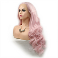 Rechoo Pink Body Wave Cosplay Synthetic Lace Front Wig