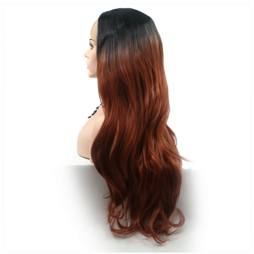 Rechoo Brown Ombre Loose Wave Synthetic Lace Front Wig