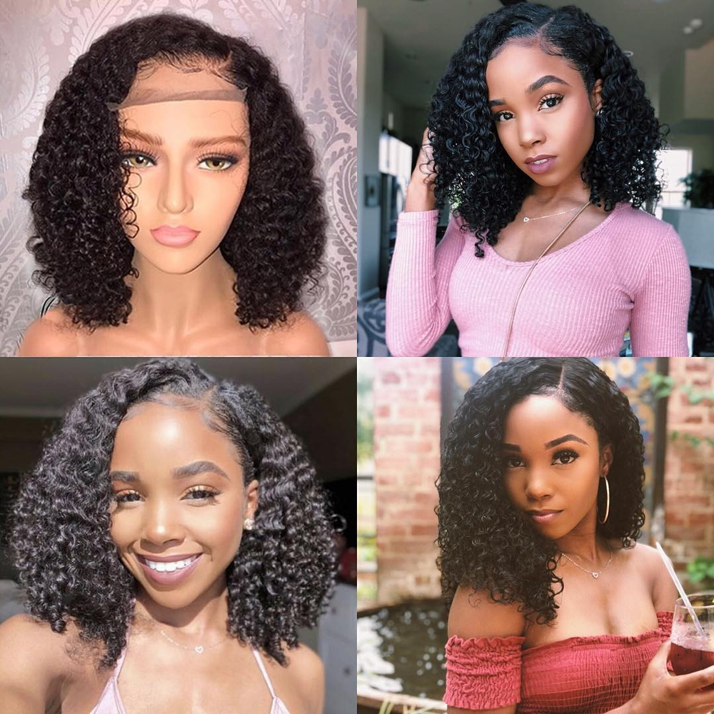 *Best Seller* Rechoo Pre-Plucked Brazilian Virgin Hair Deep Curly Bob Wigs Upgrade