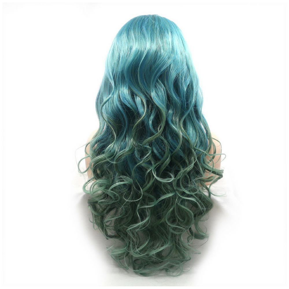 Rechoo Ombre Bright Peacock Synthetic Lace Front Wigs