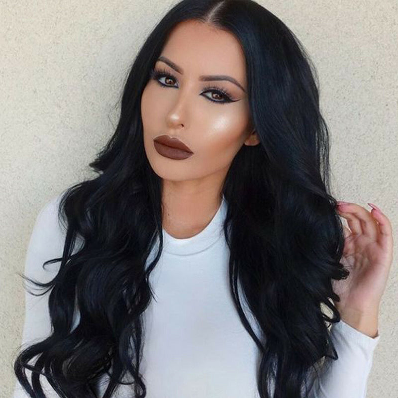 RECHOO Natural Wavy Long Lace Front Synthetic Hair Wig