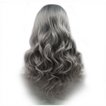 Dark Root Grey Body Wave Synthetic Lace Front Wig