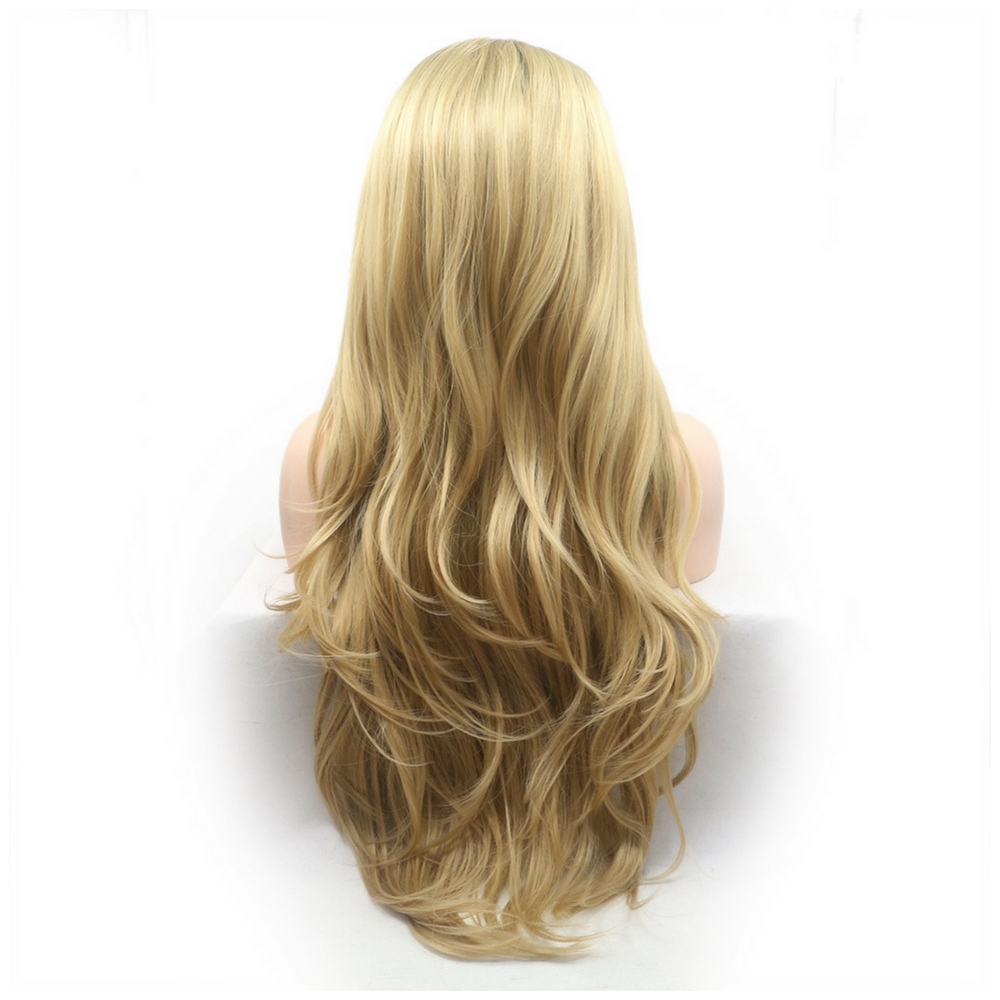 Ombre Blonde Loose Wave Synthetic Lace Front Wig