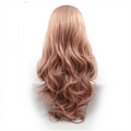 Rechoo Dark Root Rose Gold Body Wave Synthetic Lace Front Wig