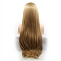 Rechoo Blonde Brown Straight Long Synthetic Lace Front Wig