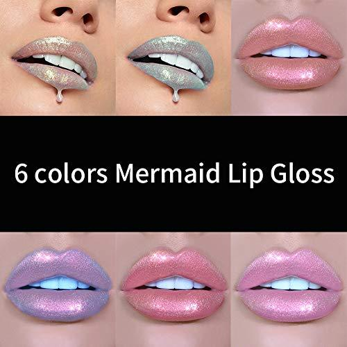 Glitter Liquid Lipsticks Set 6 color Diamond Shimmer Metallic Lipstick aterproof Long Lasting Makeup Kit Face Eye Glow Shimmer Shinning Lip Gloss Set