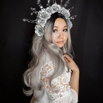 Rechoo Ombre Grey Wavy Synthetic Lace Front Wig