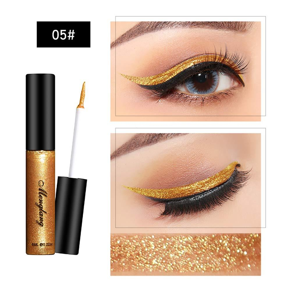 Liquid Glitter Eyeliner 12 Colors Magic Shiny Eyeliners Shimmer Long Lasting Waterproof Sparkle EyeShadow High Glitter Liquid Colorful Eyeliner