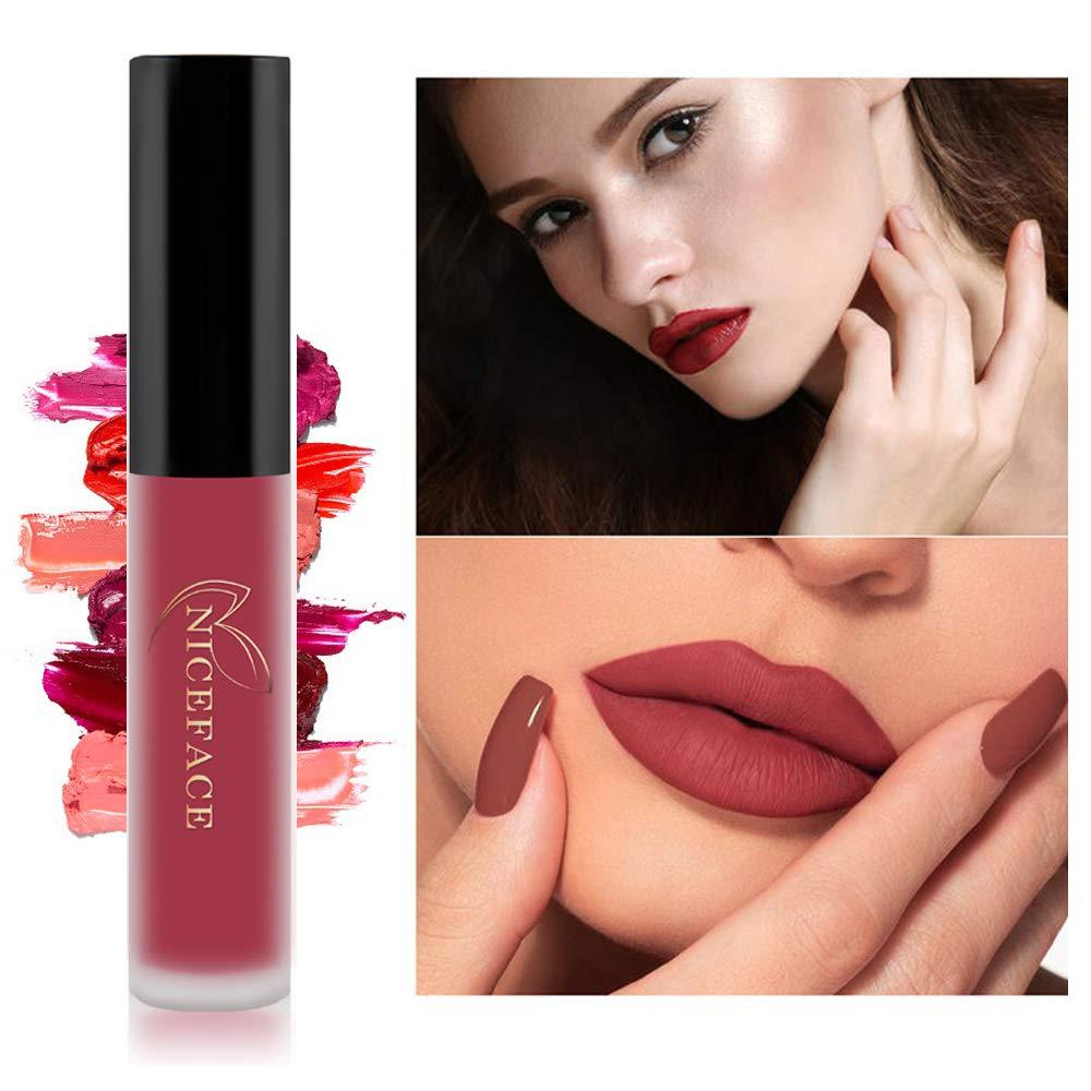 6PCS Madly MATTE Lipstick Non-stick Cup Waterproof Lipgloss 6 color Matte Velvety Liquid Lipstick