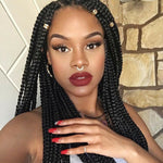 RECHOO 26 Inch Braiding Lace Front Synthetic Wig