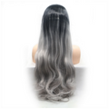 Rechoo Grey Ombre Loose Wave Synthetic Lace Front Wig
