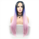 Rechoo Ombre Silky Straight Synthetic Lace Front Wig