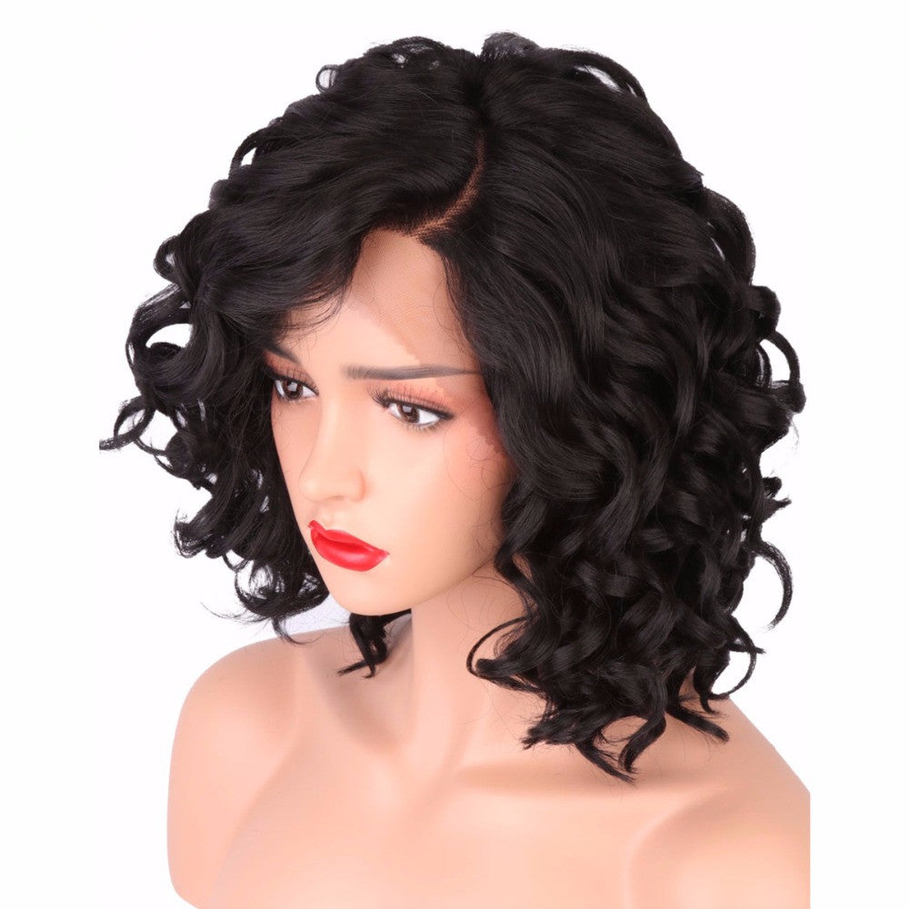 *NEW IN* Rechoo Black Body Wave Synthetic Lace Front Wig With Natural