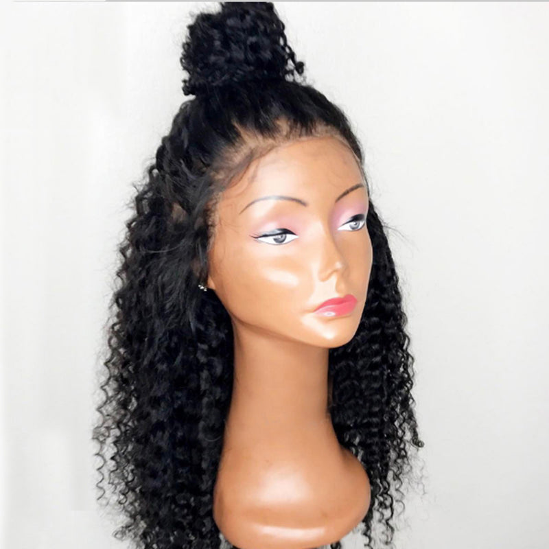 Rechoo Glueless Kinky Curly Lace Front  Synthetic Wig