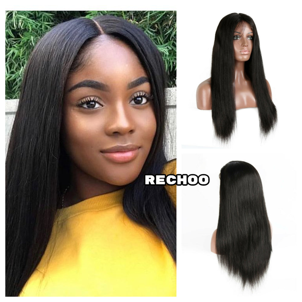 Rechoo 13*6 Deep Parting Straight Brazilian Lace Front Wig