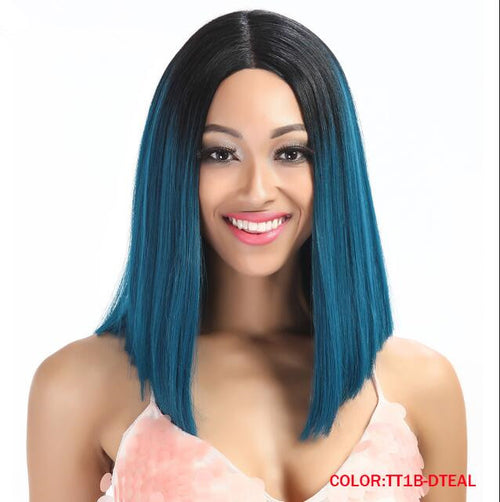 Rechoo T Part Synthetic Wig 7 Colors Ombre Hair