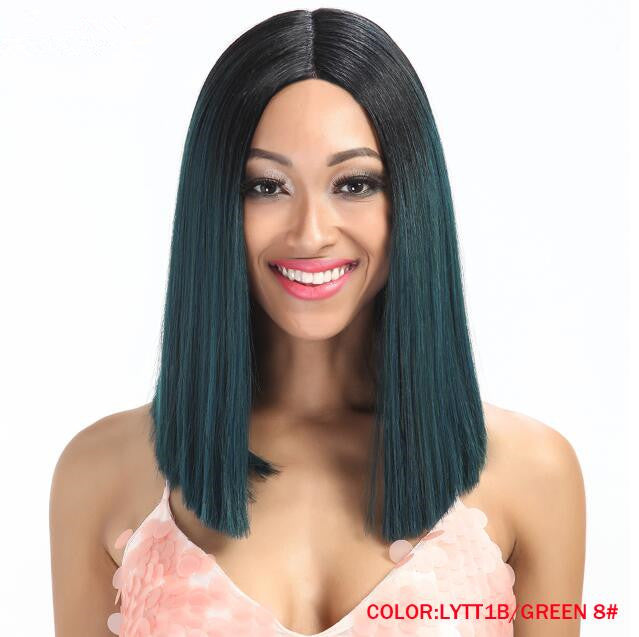 Rechoo T Part Lace Front Ombre Synthetic Wig 8 Colors