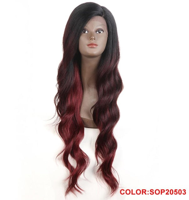 Rechoo African American Synthetic Lace Front Wig