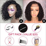 *NEW IN* Virgin Hair Curly Bob Wigs 2-IN-1 (A)+(B) With Free Gift