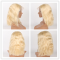 Rechoo Fairy 613 Blonde Bob Lace Frontal  Human Hair Wigs