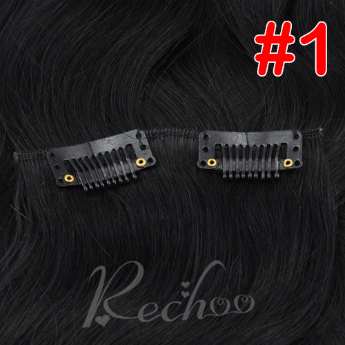 Rechoo Body Wave Clip In Hair Extensions 100g 7PCS