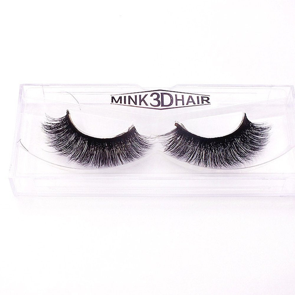 Rechoo 1Pair Luxury 3D Mink Fur False Eyelashes Extensions